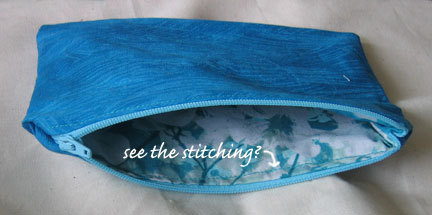 Zippouchwstitching